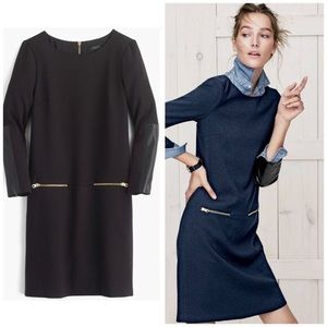 J. Crew Faux Leather Zipper Dress